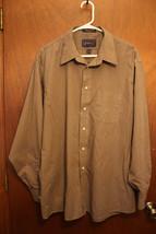 Arrow Brown Long Sleeve Dress Shirt 17 1/2 34/35 - $10.99