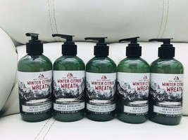 5 Bath Body Works Winter Citrus Wreath Gentle Exfoliating Hand Soap Tea ... - £32.35 GBP