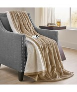 Electric Heated Throw Blanket Controller Soft Luxury Plush Living Room B... - $52.46
