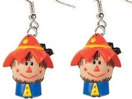 SCARECROW FUNKY EARRINGS-Halloween Thanksgiving Harvest Jewelry - $6.97