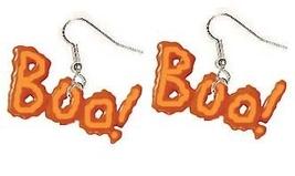 BOO GLOW EARRINGS-Halloween Ghost Charm Funky Costume Jewelry - $4.97
