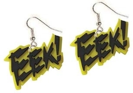 EEK EARRINGS-Punk Scream Sci-Fi Horror Movie Charm Funky Jewelry - $4.97