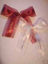 50 made bows PERSONALIZED RIBBON  1.5 inch satin and organza ribbon - $29.95+