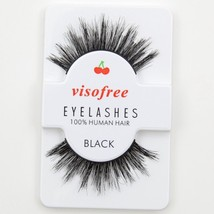Visofree® False Eyelashes Black 3D Lashes Human Hair Handmade Thick Eyes... - $4.29