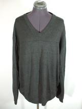 Mens NAUTICA V-Neck Cotton Pullover Sweater Dark Gray XL - $7.99