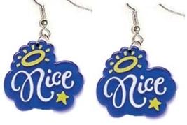 NICE EARRINGS-Attitude Pollyanna ANGEL Charm Funky Diva Jewelry - $4.97