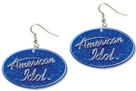 AMERICAN IDOL FUNKY EARRINGS - HUGE Funky Punk Fan Logo Jewelry - $4.97