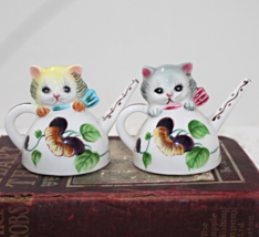 Vintage Norcrest PY Ceramics Kittens In Teapot Salt & Pepper Shaker Set - $20.00