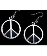 Peace 20sign 20earrings tibetansilver 24mm thumbtall
