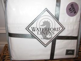 Waterford HEMSTITCH White 4P Queen Sheet Set Fits 21 inch Mattress - $138.65