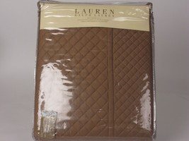 Ralph Lauren SOLID COLOR DIAMOND STITCH Tan Full Queen Quilt - $161.45