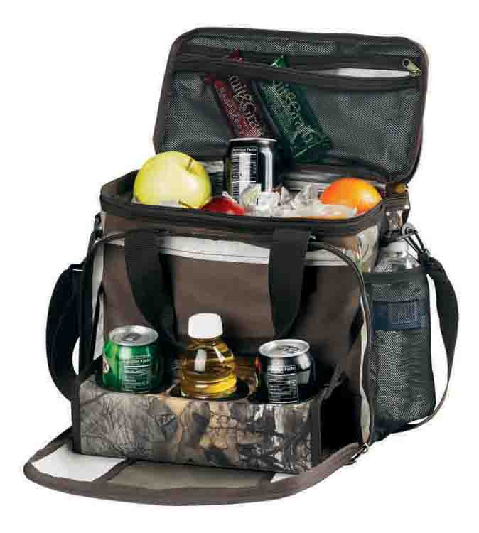Primary image for Insulated Lunch Bag cooler Realtree Camo all in 1 Handy fold down can/cup holder