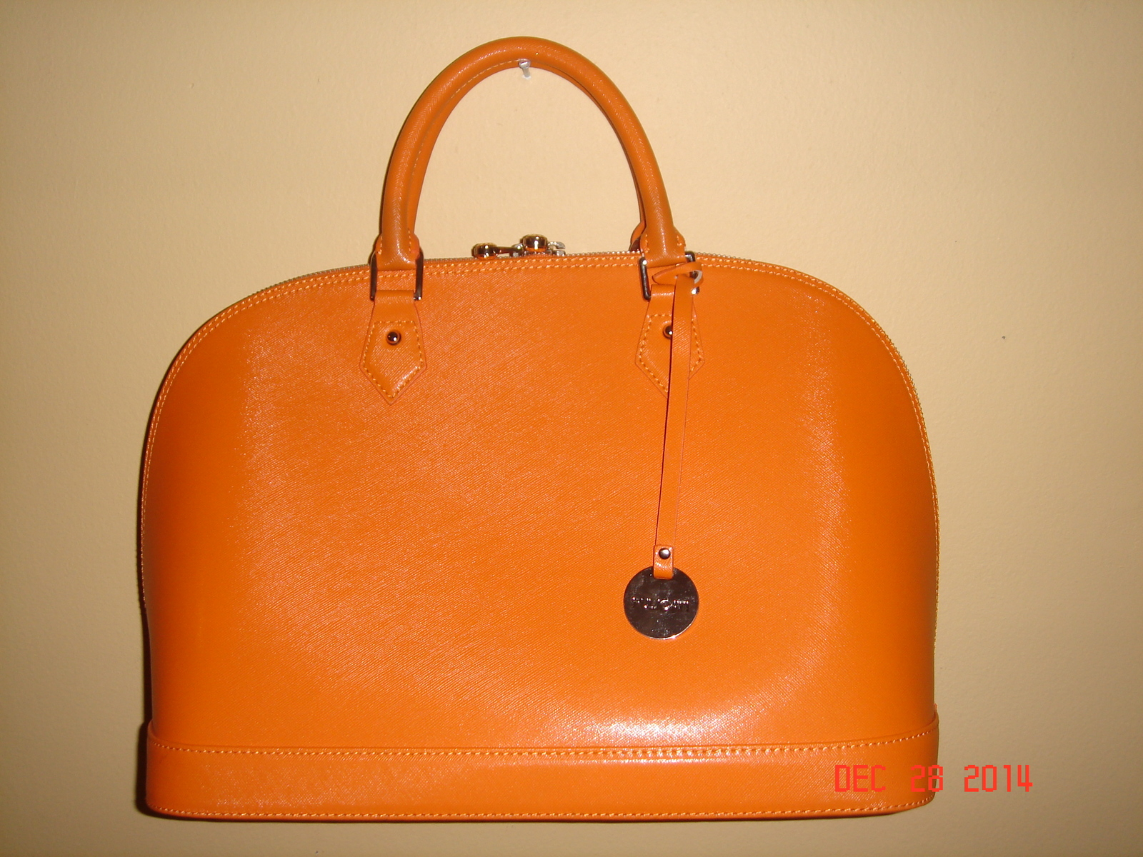 Pulicati Italian Leather Satchel Bag-Orange and 50 similar items