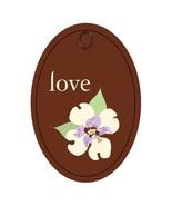 Flower Tag2014-056-Digital Download-ClipArt-Art... - $4.00