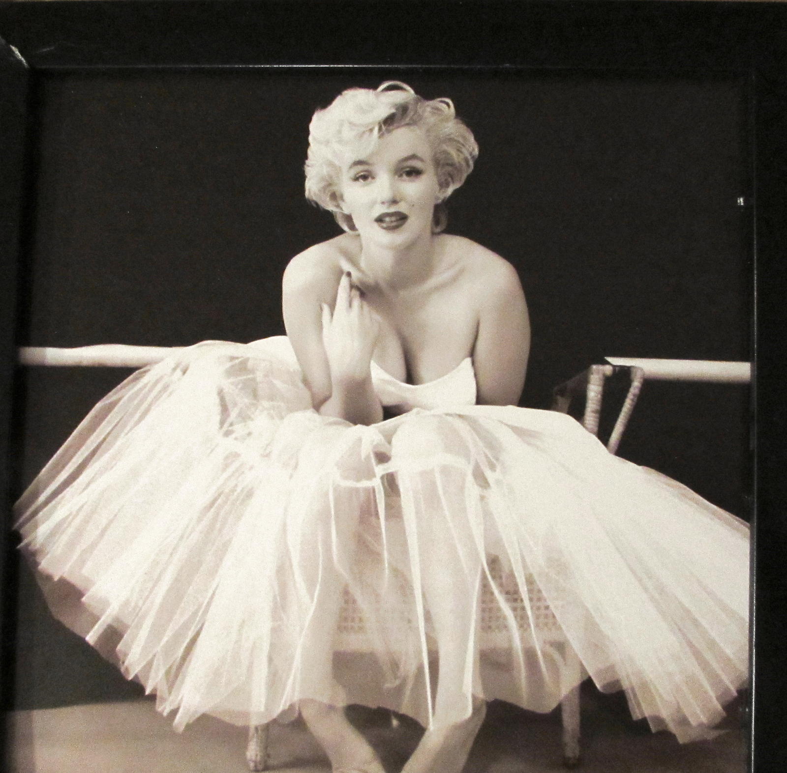 "Marilyn Monroe 3 Framed Photo's Prints from the ""Ballerina Series"""