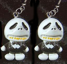Jack Skellington Roly Poly Earrings Fun Nightmare Jewelry Stumpy - $8.97