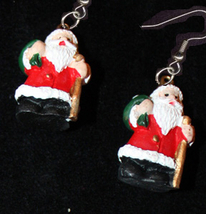 SANTA CLAUS EARRINGS-Christmas Holiday Novelty Costume Jewelry-G - $8.97