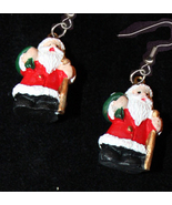 Santa 20mini 20resin g earrings thumbtall