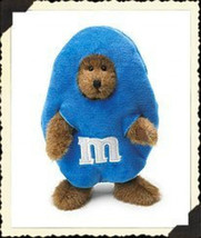 "Boyds Bears ""B.M. Peeker"" "" 7"" Blue M&M Plush Bear Peeker #919004- New-  Retired - $16.99"