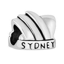 Pugster New Australia Sydney Opera House Charm Silver/p European Charm B... - $12.49