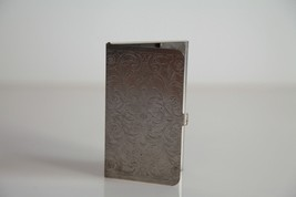 Vintage 1990s Chrome Card Holder. Unisex - $19.80