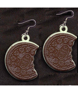 OREO COOKIE EARRINGS-Vintage Food Gumball Charm... - $12.97