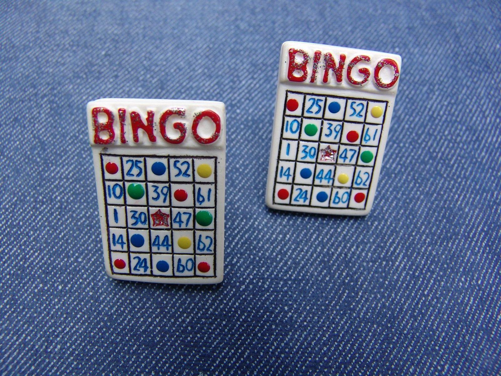 VINTAGE BINGO CARD EARRINGS (