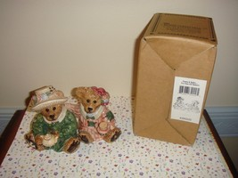 Boyds Bears Bearware Pottery Emma & Bailey Tea Time, Salt & Pepper - $10.39