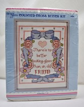 No Better Looking Glass Than Old Friend Counted Cross Stitch Kit - New B... - $9.45