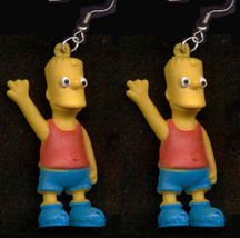 BART SIMPSON EARRINGS-Simpsons Cartoon Character Novelty Jewelry - $6.97