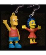 BART & LISA FUNKY EARRINGS-The Simpsons Cartoon Novelty Jewelry - $6.97
