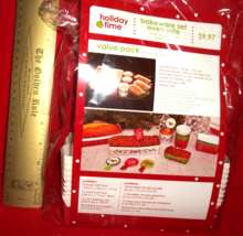 Home Holiday Time Set Christmas Party Supply Oven Safe Bakeware Trays Value Pack - $9.99