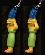 MARGE EARRINGS-The Simpsons Charm Funky Novelty Costume Jewelry - $6.97