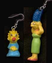 MARGE & MAGGIE EARRINGS-The Simpsons Charm Funky Novelty Jewelry - $6.97