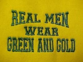 Real Men Wear Green & Gold Athletic BVA Baylor W&M USF Sweatshirt Adult L  New - $22.28