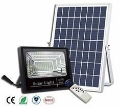 40W Solar Flood Lights Outdoor,Street and Area Lighting,Dusk to Dawn,56L... - $101.00