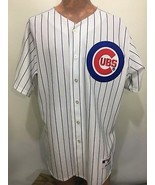 Chicago Cubs 48 Majestic Authentic Blue White Pinstripe Jersey Made in USA - $72.52