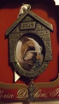 Gloria Duchin Pewter Photo Ornament Home is Where the Dog Is Dated 2014 - $14.99