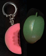 WATERMELON KEYCHAIN-Melon Vintage Food Funky Novelty Jewelry-BIG - $6.97