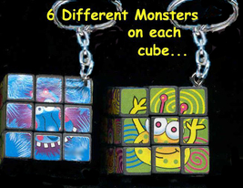 RUBIKS GAME NOVELTY KEYCHAIN-Monster Birthday Party Favor-Works! - $3.97