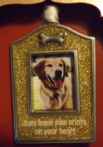 Gloria Duchin Pewter Photo Ornament Dogs Leave Paw Prints on Your Heart - $14.99