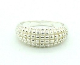 Women's Sterling Silver Beaded Scale Dome Band Style Cocktail Ring 8mm #... - $24.75