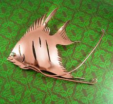 "HUGE sterling Fish Brooch Signed statement piece 5 1/2"" over the top vintage  - $125.00"