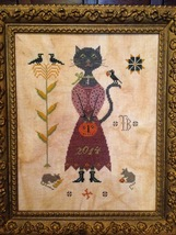 Miss Isabelle Black cross stitch chart Scattered Seed Samplers  - $10.00