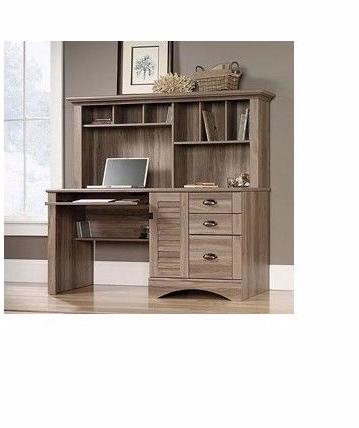 Sauder Cottage Style Computer Laptop Desk w/Hutch Oak Home ...