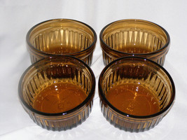 Vintage Set of 4 Federal Glass Molds with Patterns Custard Jello Pudding - $17.40