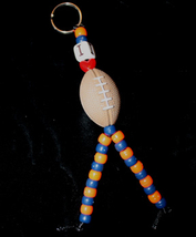 I LOVE FOOTBALL KEYCHAIN-Cheerleader Charm Funky Novelty Jewelry - $6.97