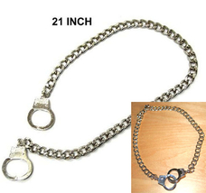 HANDCUFFS NECKLACE CHAIN-Punk Biker Fetish Funky Gothic Jewelry - $12.97