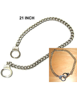 HANDCUFFS NECKLACE CHAIN-Punk Biker Fetish Funk... - $12.97