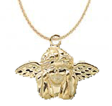ANGEL PENDANT NECKLACE-WINGED DREAMER Cupid Cherub Charm Costume Jewelry... - $6.97